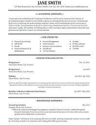 Cv Template Junior Accountant College Graduate Resume Sample
