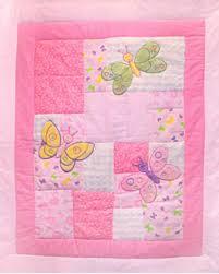 Flannel Fabric : JB Quilting Fabrics & 3D Nursery - Butterfly Baby - Applique Flannel Cot Panel Adamdwight.com
