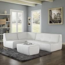 contemporary white leather sectional sofa big sectional couches white sectional sofa