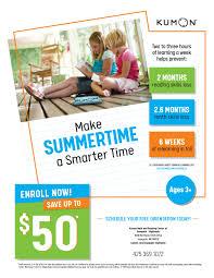 Kumon Math And Reading Summer Slide Save 50 At Kumon Math And Reading Center