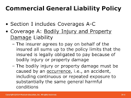commercial general liability policy