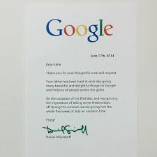 Little Girl Writes Brilliant Letter To Google Asking For Dad S Day