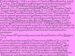alexander pope an essay on man ppt  alexander pope s biography 4 first