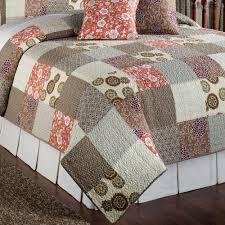 Stella Cotton Patchwork Quilt Bed Set & Stella Patchwork Quilt Set Taupe Adamdwight.com