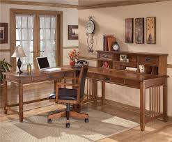 l shape furniture. Ashley Furniture Cross Island L-Shape Desk With Low Hutch L Shape A