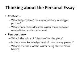 lecture personal essay recap what is analysis essay purpose  19 context