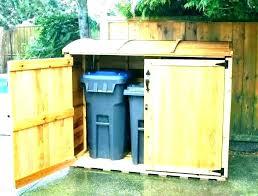 trash can holder outdoor garbage storage ideas outside t indoor outdoor trash can storage