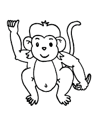 Printable Monkey Monkey Printable Coloring Pages Monkey Coloring