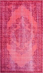 bohemian overdyed rug pink