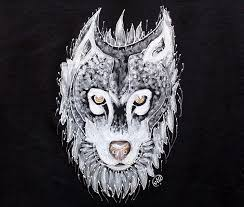 Wolf Design Sweatshirts Buy Painted Wolf T Shirt Wolf Painting White Wolf Black T