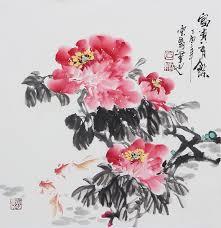 peony painting chinese fl paintings beautiful flower painting
