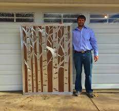 large aspen tree metal wall art for kitchen or above fireplace pertaining to aspen tree wall