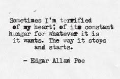 Sometimes I am terrified of my heart, of its constant hunger for ... via Relatably.com