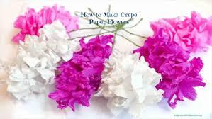 Paper Flower Craft Ideas Diy Crepe Paper Flowers Tutorial Easy Craft Ideas Easy