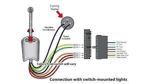 universal bolt on turn signal switch wiring youtube brake and turn signal wiring diagram at Golf Cart Turn Signal Wiring Diagram
