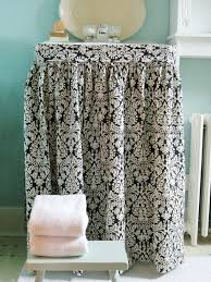 easy to sew sink skirt a great diy project from mustard seed