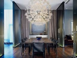chandelier in dining room. Wonderful Dining Large Chandelier Above The Dining Table For A Modern Look Intended Chandelier In Dining Room
