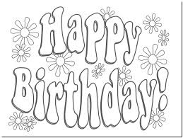 Small Picture happy birthday printable coloring pages happy birthday card