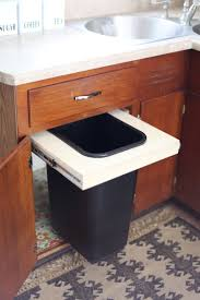 Kitchen Waste Bin Door Mounted Convert A Cabinet Into A Pull Out Trash Bin A Beautiful Mess