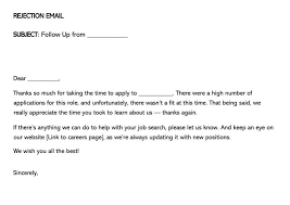 Email Sample For Job Job Candidate Rejection Letter 36 Sample Letters Templates