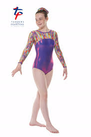long sleeve gymnastics leotard rainbow gym 55