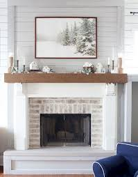 nifty fireplace decorating ideas painted brick framed wall arts