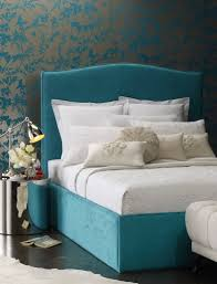 Peacock Inspired Bedroom Carries Bed Heatherly Design