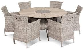 contemporary table and chair set resin wicker round garden