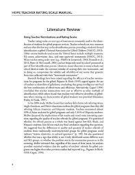 press hope teacher rating scale manual involving reviews