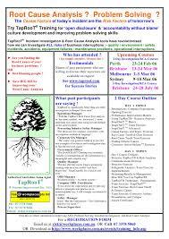 Root Cause Analysis Custom Tap Roo T R Training Summary F L Y E R 44