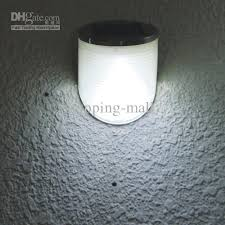 LED Solar Outdoor Wall Light Front And Rear LEDs W Dusk To Dawn Solar Led Wall Lights