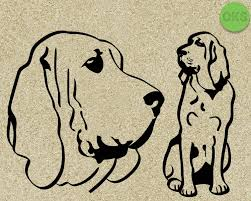 Bloodhound Svg Dxf Vector Eps Clipart Cricut Download In 2020 Bloodhound Svg Clip Art