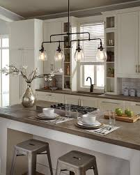 ... transitional Belton lighting collection by Sea Gull Lighting has Seeded  glass shades that highlight the classic Edison bulbs. Ideal for kitchen  island ...