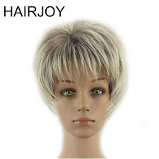 <b>HAIRJOY Women Synthetic Hair</b> Short Layered Curly Puffy Bangs ...