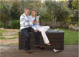 15 outdoor storage bench for relaxing
