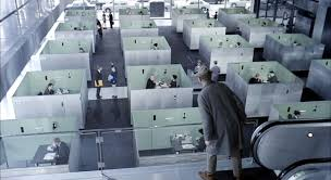 open concept office space. Still From Jacques Tati\u0027s Film Playtime Open Concept Office Space A