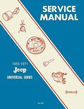 jeep dj5 bishko oem repair maintenance shop manual jeep cj dj 5 1953 1971