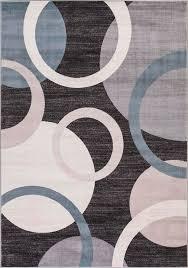 concord global trading lara 4583 circles anthracite area rug