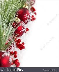 Christmas Ornaments Border Red Christmas Ornaments Border Image