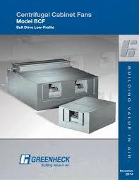 belt drive cabinet fans model bcf 1 16 pages