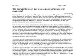 can the world sustain our increasing dependency over electricity document image preview