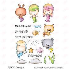 Summer Fun Designs C C Designs Clear Stamp Set Summer Fun