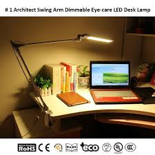 desk lamps byb e430 metal architect led lamp swing arm task with clamp table