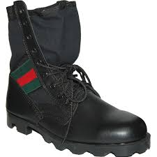 american shoe factory krazy shoe artists 8 inch black leather men s combat boot with red and green ornament com