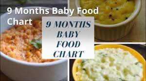 9 Months Baby Food Chart Indian Baby Food Recipes