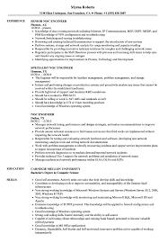 The cv template is a. Noc Engineer Resume Samples Velvet Jobs