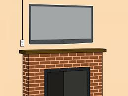 wall mount tv above fireplace hide wires over stone mounting installation setup modern home decoration french best for brick m l f