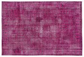 vintage rug fuchsia 202x303 cm