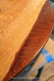 staining an oak table farm fresh
