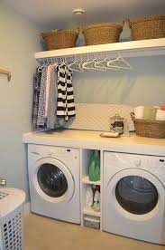 shelf over washer and dryer this functional small laundry room shelves between washer dryer